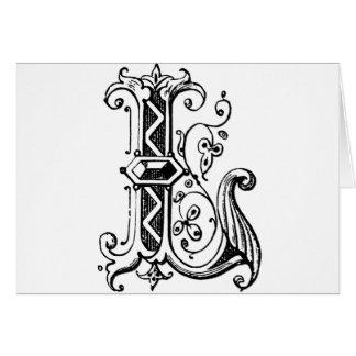 L letra decorativa tarjetas