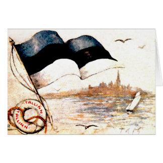 La 1ra postal nacional de Estonia - espacio en