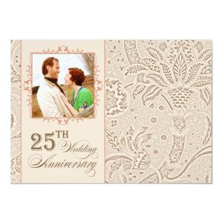 la 25ta foto hermosa del aniversario de boda invitación 12,7 x 17,8 cm
