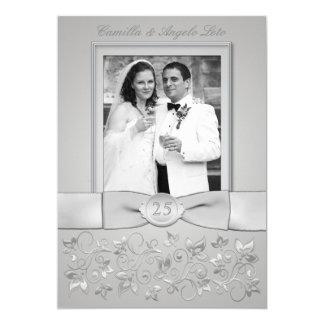 La 25ta foto IMPRESA del aniversario de boda del Invitación 12,7 X 17,8 Cm