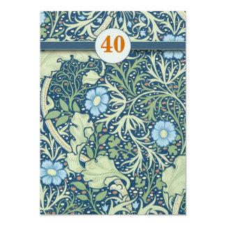 la 40.a celebración del aniversario de boda invita invitación 12,7 x 17,8 cm
