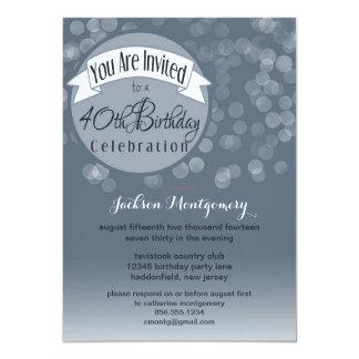 La 40.a fiesta de cumpleaños fresca y moderna de invitación 11,4 x 15,8 cm