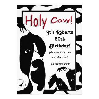 La 50.a fiesta de cumpleaños de la vaca santa dive invitaciones personales