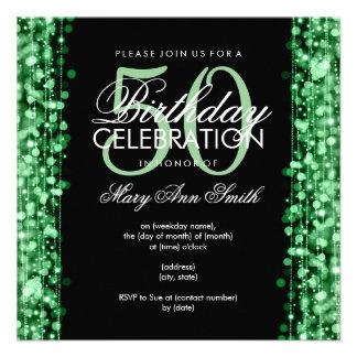 La 50.a fiesta de cumpleaños elegante chispea verd anuncios