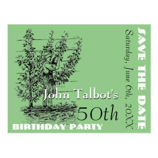 La 50.a reserva de la fiesta de cumpleaños del postal