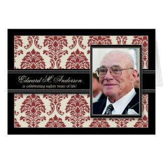 :: la 80.a fiesta de cumpleaños del custom_barbara tarjeta de felicitación
