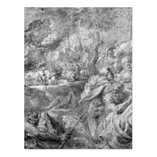 La abducción de toros de Peter Paul Rubens Postal