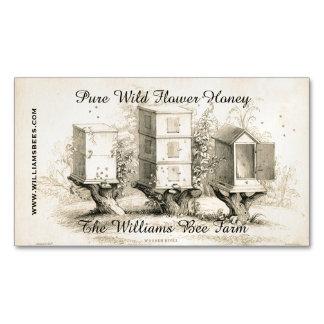 La abeja del vintage encorcha el imán de encargo tarjetas de visita magnéticas (paquete de 25)
