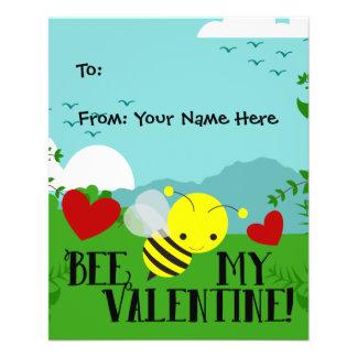 La abeja mi jardín lindo de la tarjeta del día de folleto 11,4 x 14,2 cm