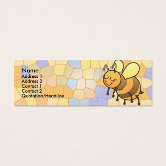 La abeja ocupada embroma tarjetas flacas del