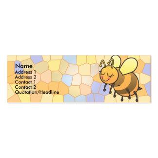La abeja ocupada embroma tarjetas flacas del perfi tarjetas de visita mini