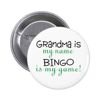 La abuela es mi bingo conocido es mi juego chapa redonda de 5 cm