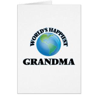 La abuela más feliz del mundo tarjeta de felicitación
