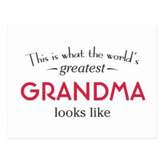 La abuela más grande del mundo postal
