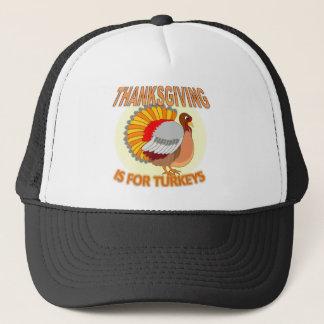 La acción de gracias está para los pavos gorra de camionero