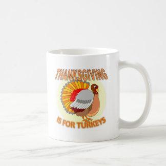 La acción de gracias está para los pavos taza de café