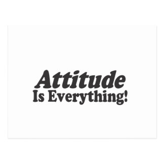¡La actitud es todo! Postal