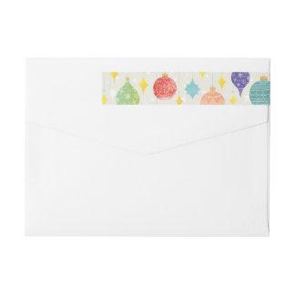 La acuarela adorna día de fiesta del navidad etiquetas postales