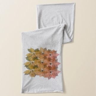 La acuarela de la colección de la caída floral bufanda