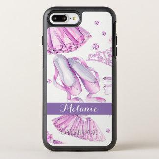 La acuarela de la danza del ballet le agradece funda OtterBox symmetry para iPhone 8 plus/7 plus