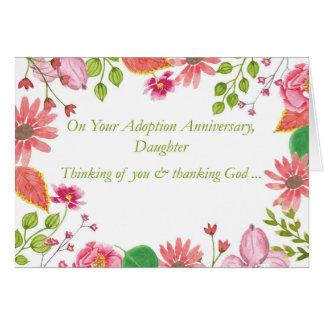 La acuarela del aniversario de la adopción de la tarjeta de felicitación