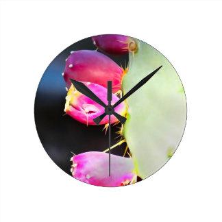 ¡La acuarela del higo chumbo, personaliza! Reloj Redondo Mediano