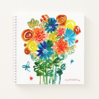 La acuarela del Sketchbook florece el cuaderno