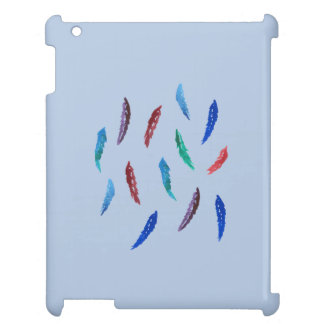 La acuarela empluma la caja brillante del iPad