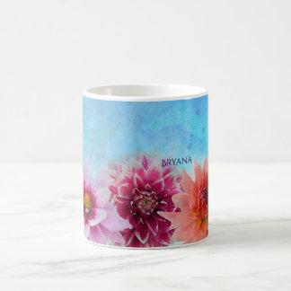 La acuarela florece elegante floral moderno taza de café