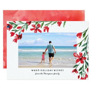 La acuarela florece la tarjeta de la foto del día invitación 12,7 x 17,8 cm