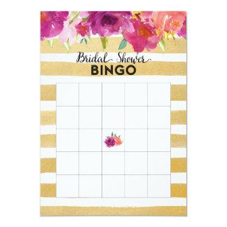 La acuarela florece la tarjeta nupcial del bingo invitación 12,7 x 17,8 cm