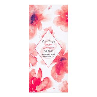 la acuarela florece programas románticos del boda lonas publicitarias