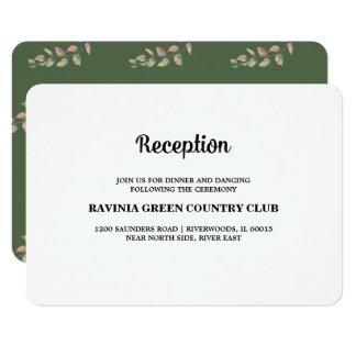 La acuarela ramifica las tarjetas de la recepción invitación 8,9 x 12,7 cm