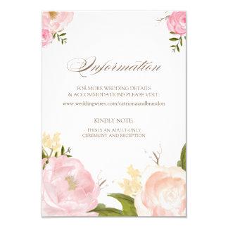 La acuarela romántica florece la tarjeta de invitación 8,9 x 12,7 cm