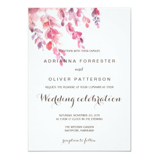 La acuarela sale del boda elegante invitación 12,7 x 17,8 cm