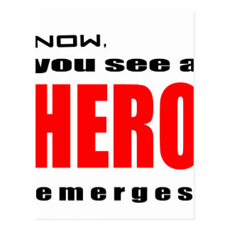 la admiración heroica de la acción del super héroe postal