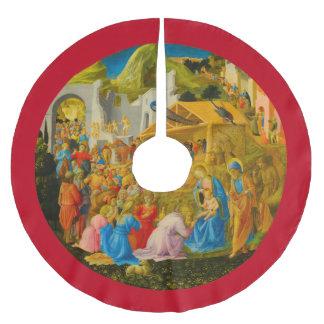 La adoración de la falda del árbol de unos de los falda para el árbol de navidad