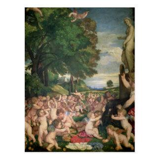 La adoración de Venus, 1519 Postal