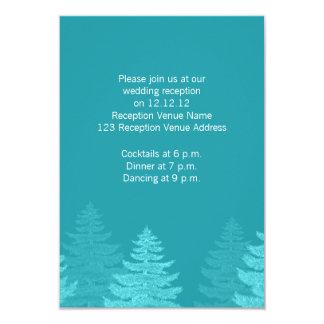 La aguamarina atavía la tarjeta de la recepción invitación 8,9 x 12,7 cm