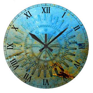 La aguamarina Steampunk adapta el reloj de pared