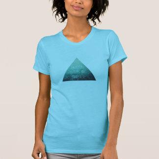 La aguamarina/turquesa 'el futuro es lo que camisetas
