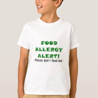 La alarma de la alergia alimentaria no me alimenta camiseta