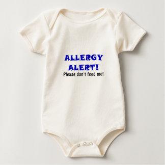 La alarma de la alergia no me alimenta por favor body para bebé