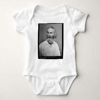 La alegría de Walt Whitman con usted ama las Body Para Bebé