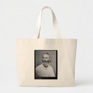 La alegría de Walt Whitman con usted ama las camis Bolsa Tela Grande
