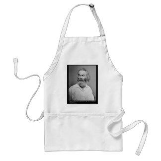 La alegría de Walt Whitman con usted ama las camis Delantal