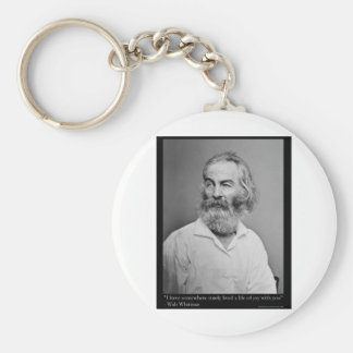 La alegría de Walt Whitman con usted ama las camis Llavero Redondo Tipo Chapa