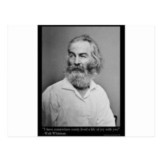 La alegría de Walt Whitman con usted ama las camis Postal