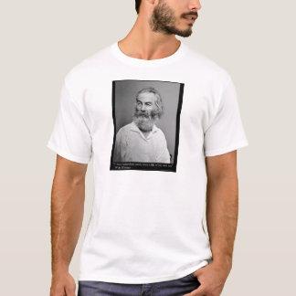 La alegría de Walt Whitman con usted ama las Camiseta