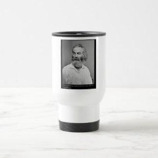 La alegría de Walt Whitman con usted ama las Taza De Viaje De Acero Inoxidable